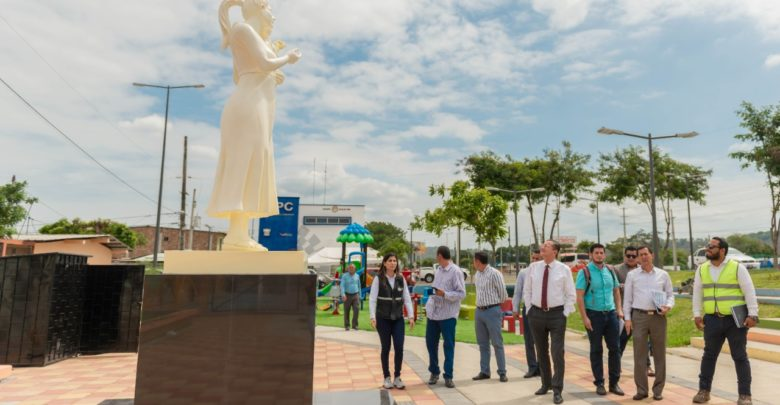 recorrido alcalde de Portoviejo , parque , visita técnica